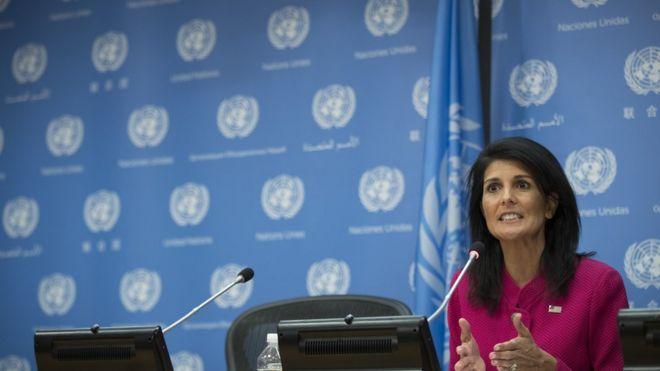 Đại sứ Mỹ tại LHQ Nikki Haley