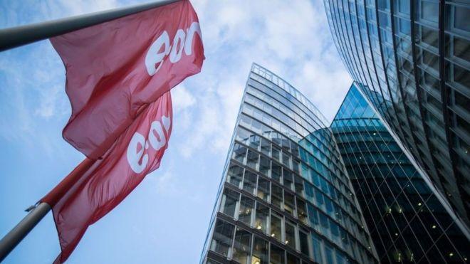 Flags outside German company E.On