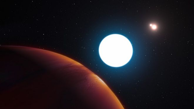 el increíble planeta que orbita tres soles y durante años es de día
