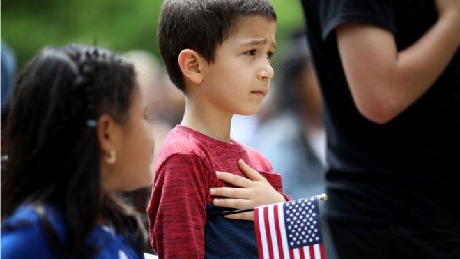 Ceremonia de nacionalización en EEUU.