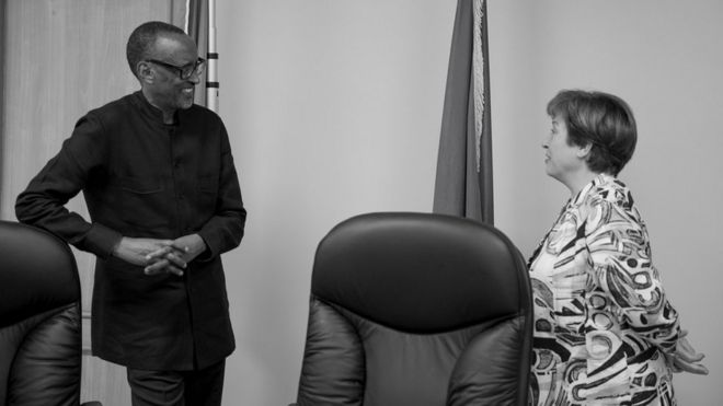 Madamu Kristalina Georgieva uyobora IMF yatangaje ko yaganiriye na Paul Kagame ku busabe bw'u Rwanda