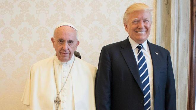 Resultado de imagen para papa francisco y TRUMP