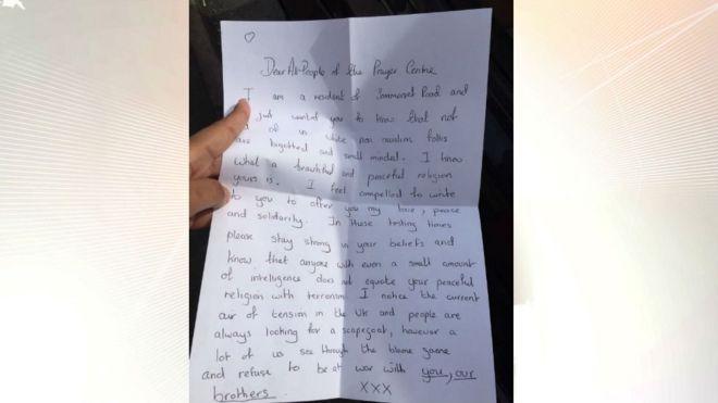 Исламская община Ковентри глубоко тронута анонимным письмом