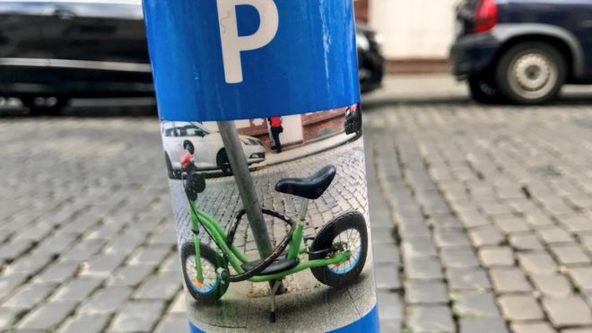'Bike only' parking sticker