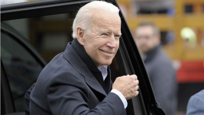 Former Vice-President Joe Biden, picture on 18 April, days before he declared a bid for the presidency in 2020