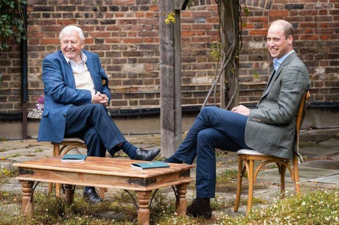 David Attenborough y el duque de Cambridge