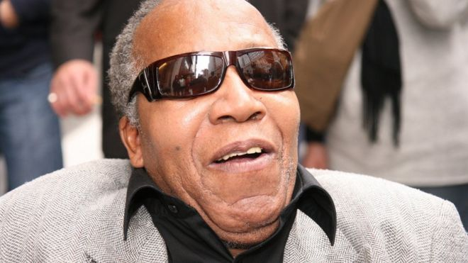 Frank Lucas, in his 70s, in New York wearing sunglasses