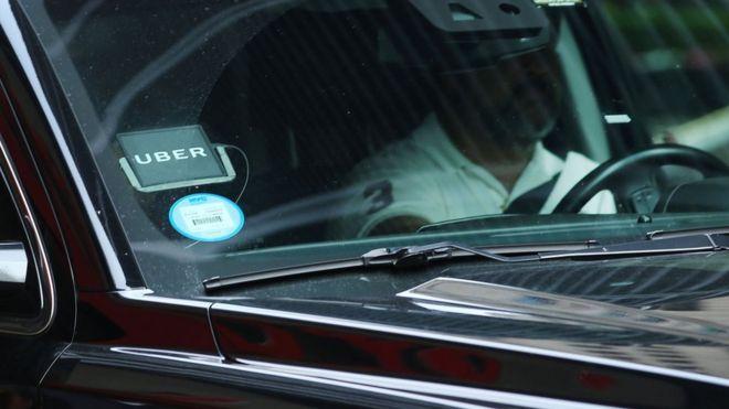 An Uber car