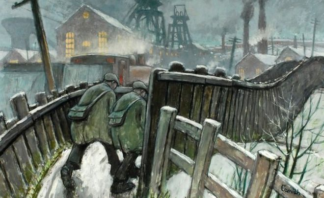 Pit Road, Winter by Norman Cornish