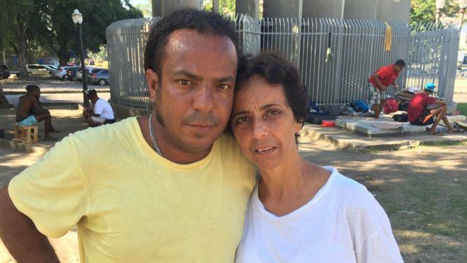 Jorge e Silvia, moradores de rua no Rio
