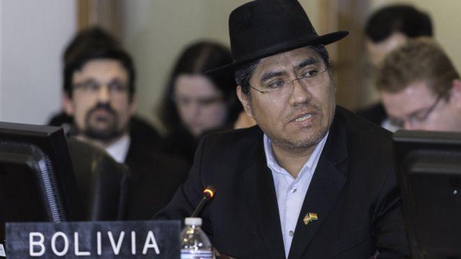 El embajador de Bolivia en la OEA, Diego Pary.