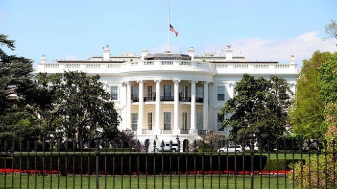 The White House south facade, in Washington, DC
