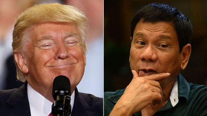 Donald Trump y Rodrigo Duterte.