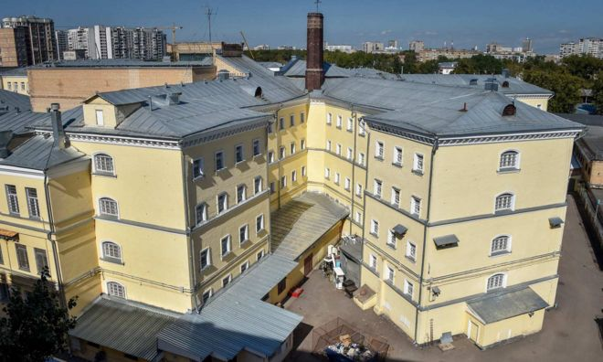 The K-shaped buildings of Moscow's Lefortovo prison