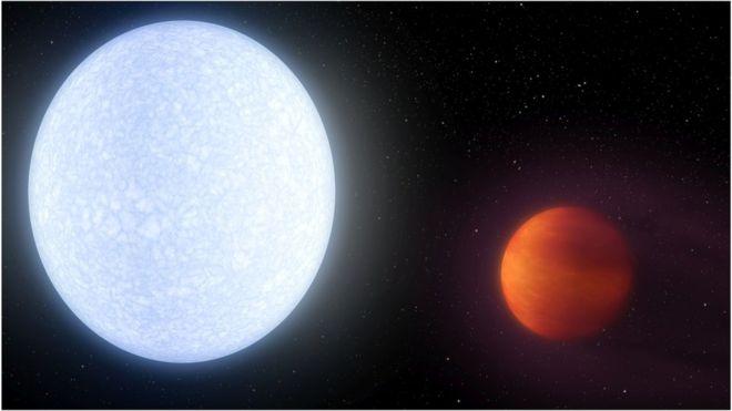 کشف سیاره ای که 'داغ تر از بیشتر ستارگان است'