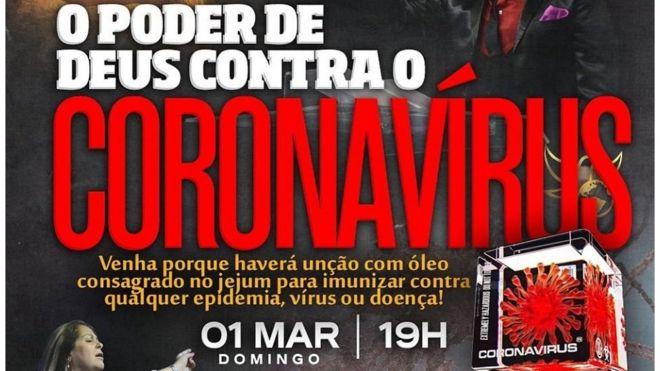 """Igreja evangélica do Rio Grande do Sul gerou revolta ao prometer imunização contra a doença em culto chamado """"O Poder de Deus contra o Coronavírus"""""""