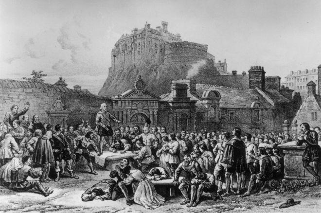 قومی عہد نامے پر 1638 میں دستخط کیے گئے تھے