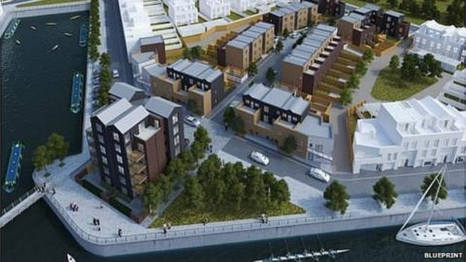 Trents copenhagen development building starts bbc news image copyright blueprint malvernweather Images