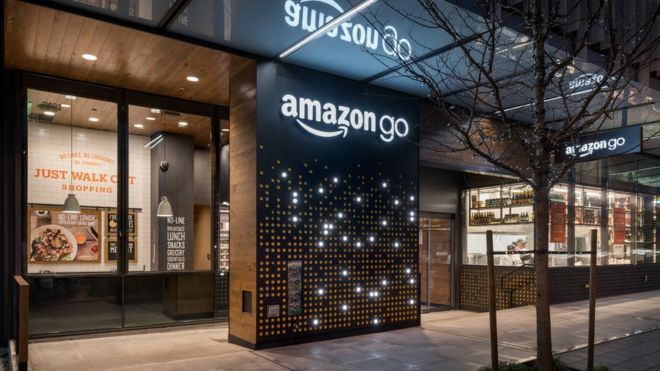 The Amazon Go store in Seattle, US
