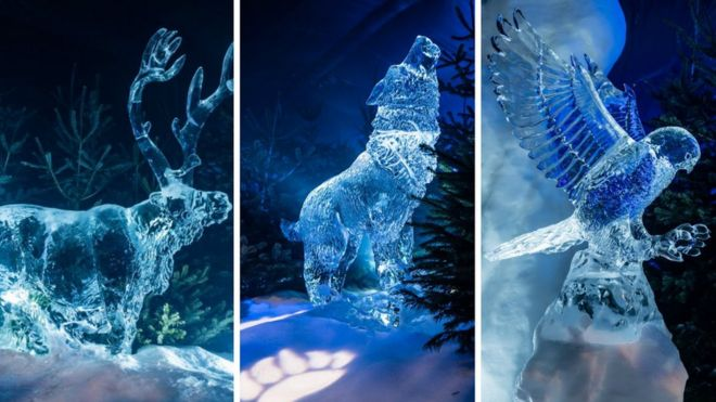 Ice Sculpture Christmas.Ice Museum To Be Built For Edinburgh S Christmas Bbc News