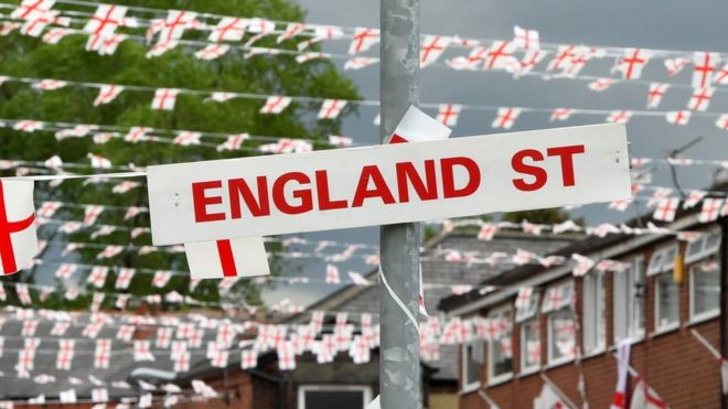 2018 world cup flying the flag for england bbc news