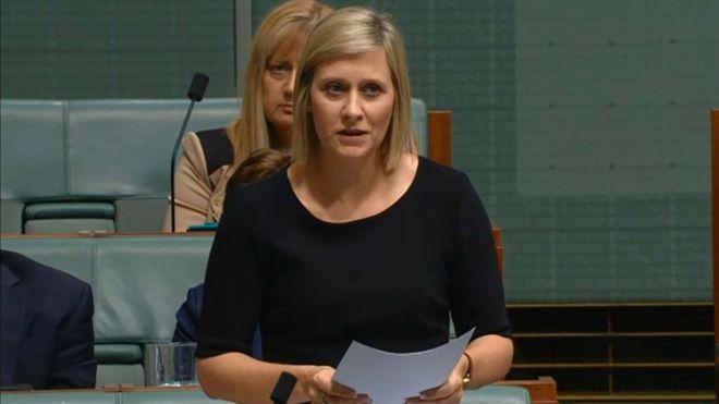 Susan Lamb delivers her speech in Australia's parliament