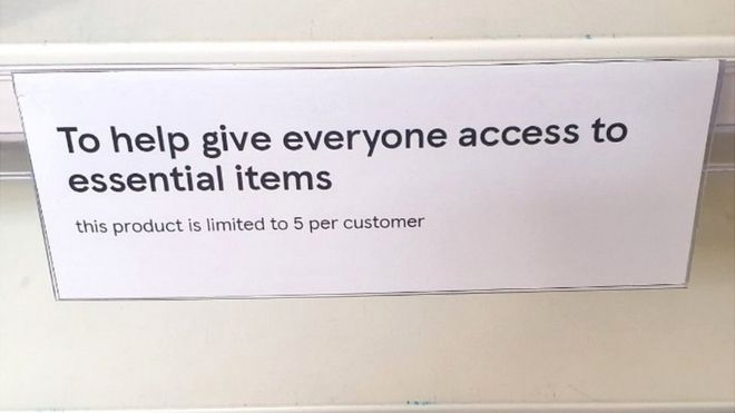 Sign in Tesco supermarket in Royston, Herts