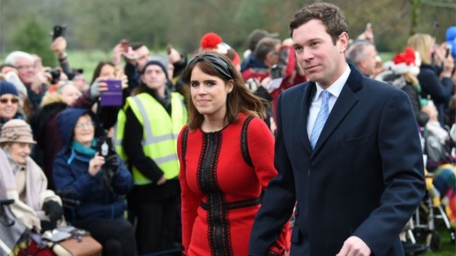 Princess Eugenie of York and her husband Jack Brooksbank