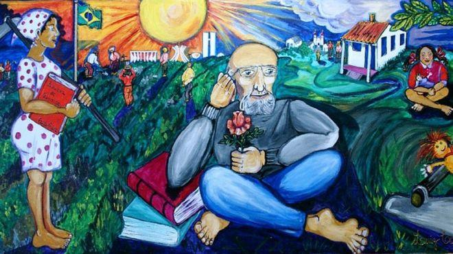 """Painelcvsobre Paulo Freire no CEFORTEPE - Centro de Formação, Tecnologia e Pesquisa Educacional Prof. """"Milton de Almeida Santos"""", em Campinas (SP)"""