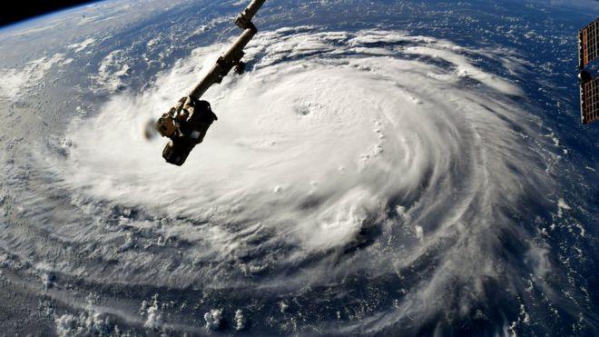 Furacão Florence visto do espaço