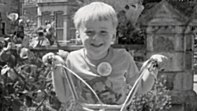 Matt aged eight, before the abuse started