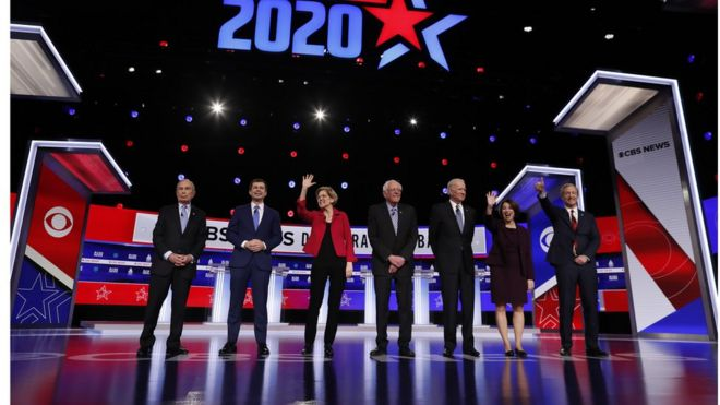 Democrats face off onstage