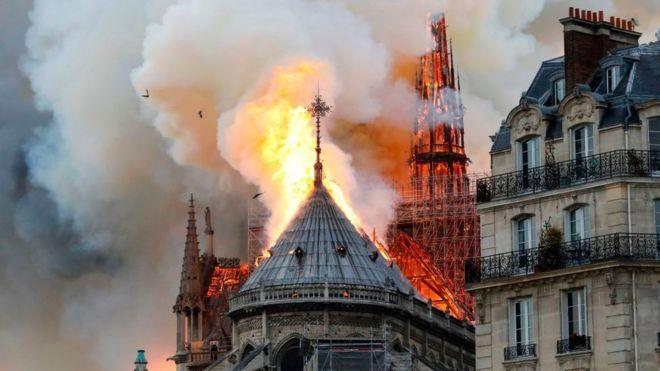 Resultado de imagen para incendio notre dame