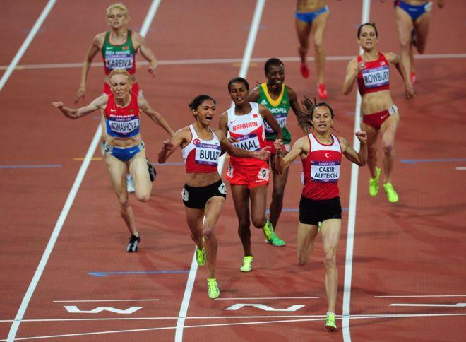 Final de los 1.500 metros planos en Londres 2012