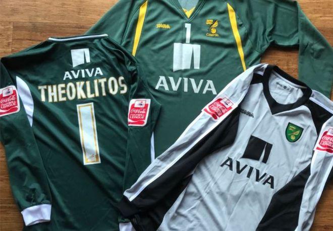 3c1e40088ee0 Norwich goalkeeper s shirts  found in Australian charity shop  - BBC ...