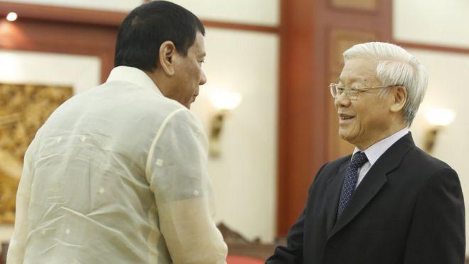 Duterte và Nguyễn Phú Trọng