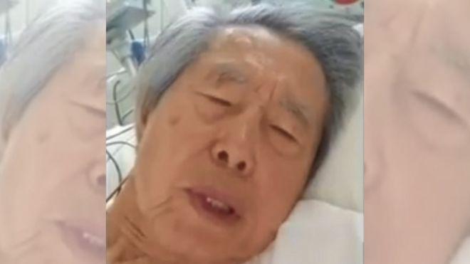 Captura de pantalla de un video de Alberto Fujimori.