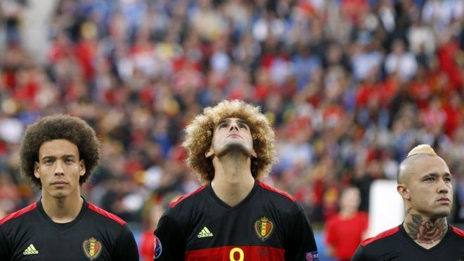 Corte pelo jugadores futbol