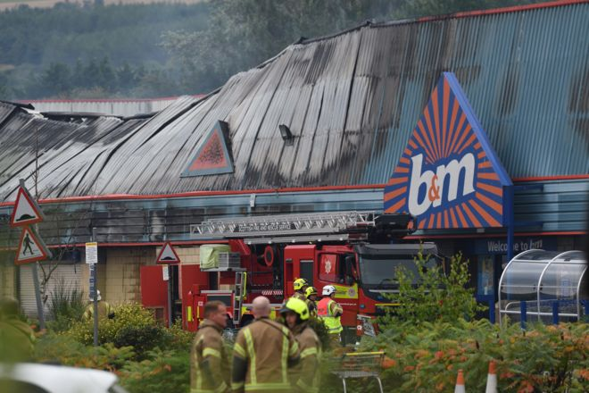 Perth retail park blaze 'was started deliberately' - BBC News