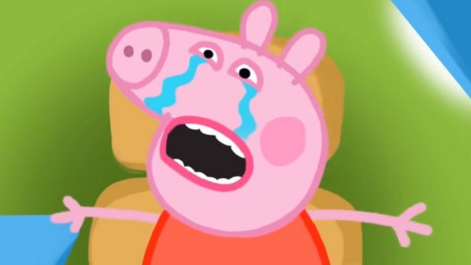 Peppa Pig crying