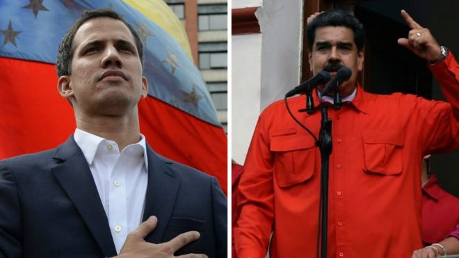 Juan Guaidó se autoproclama \
