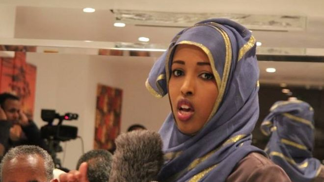 Maryan reporting live from a conference in Somalia