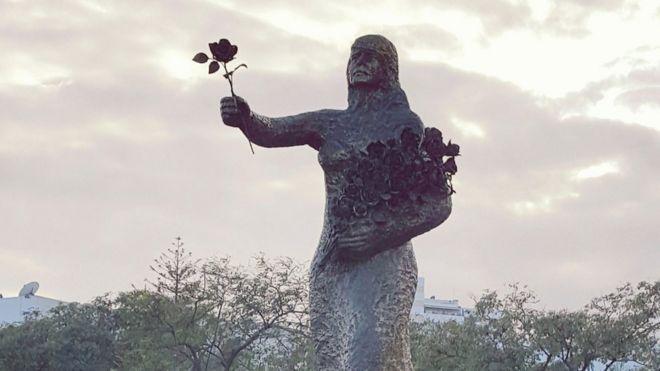 La statue contre l'extrémisme (Tunisie)