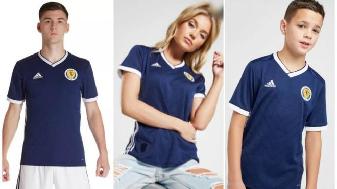 JD Sports removes Scotland kit photo after sexism row - BBC News 7b37186462