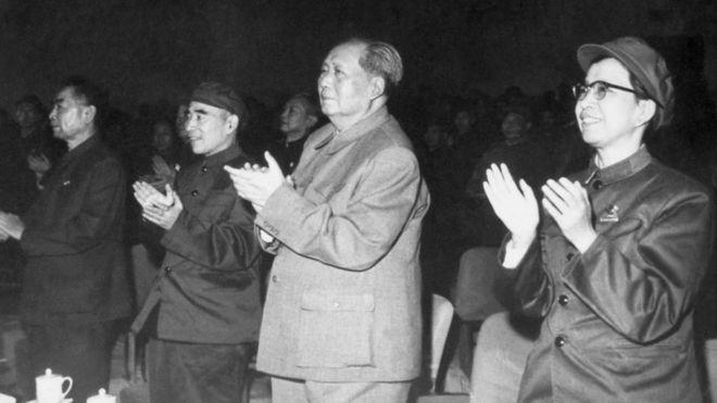毛澤東,江青,林彪,周恩來