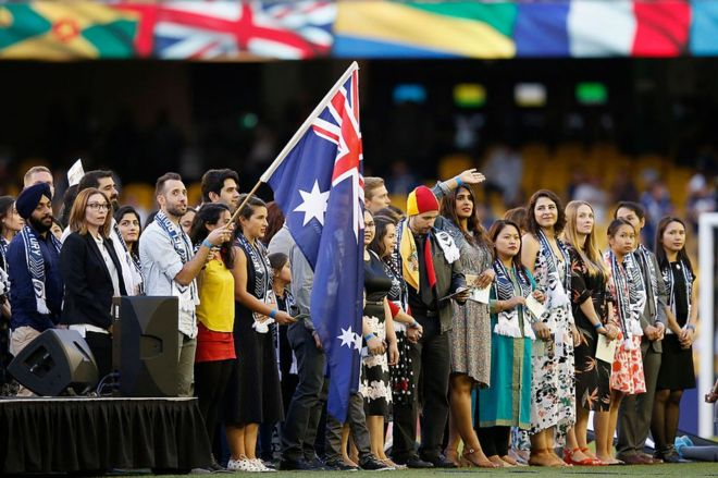 An Australia Day citizenship ceremony in Melbourne earlier this year