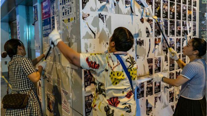 Nhiều 'Bức tường Lennon' đã bị dẹp bỏ, làm tăng nguy cơ đụng độ giữa người Hong Kong chống chính phủ và nhóm thân Bắc Kinh