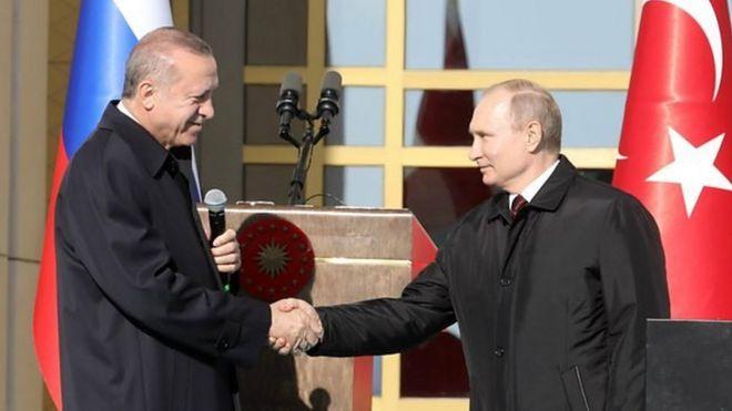 بوتين وأردوغان يتفقان على إنشاء منطقة منزوعة السلاح في إدلب