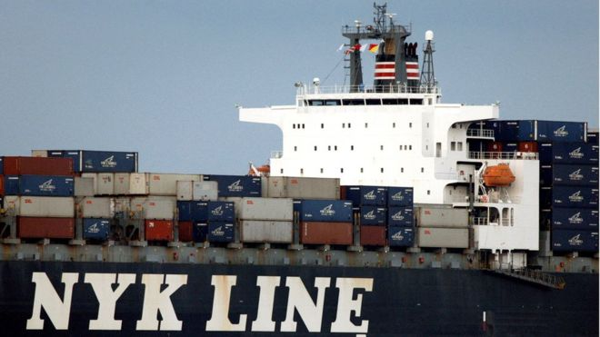 Japan shipping companies plan container merger - BBC News