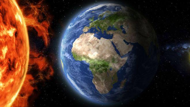 A Terra e o Sol